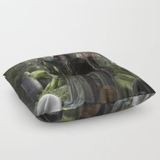 V. The Hierophant Tarot Card Illustration (Color) Floor Pillow