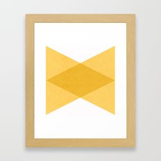 the yellow triangles Framed Art Print