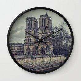 Notre Dame 1 Wall Clock