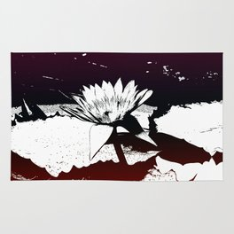 Stylized Water lily Rug
