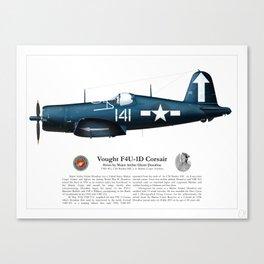 F4U-1D Corsair - Maj. Archie Donahue Canvas Print