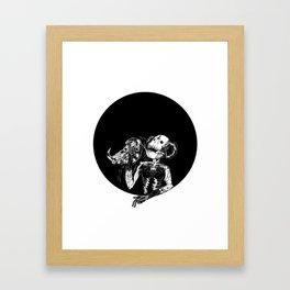 Faux King Framed Art Print