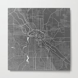 Youngstown USA Modern Map Art Print Metal Print