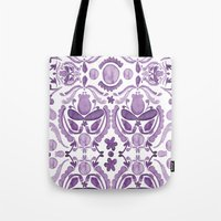scandinavian Tote Bags featuring Scandinavian Watercolor by revel designs
