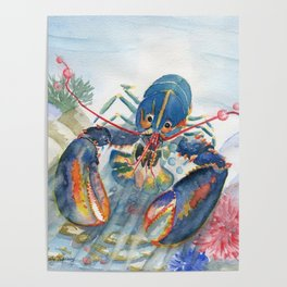 Under The Sea 2 - Lobster Poster