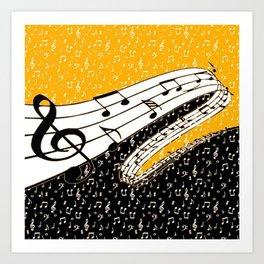 Gold music theme Art Print