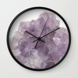 Amethyst Gemstone #1 #decor #art #society6 Wall Clock