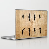sea horse Laptop & iPad Skins featuring SEA HORSE by ARCHIGRAF