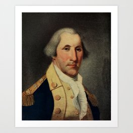 Peale, Charles Willson (1741-1827) - Scribner's 48 1910 - George Washington Art Print