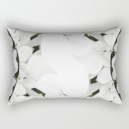 Hydrangeas - White & Blue Rectangular Pillow