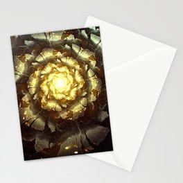Metallic Flower Stationery Cards