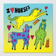 I <3 Horses Canvas Print
