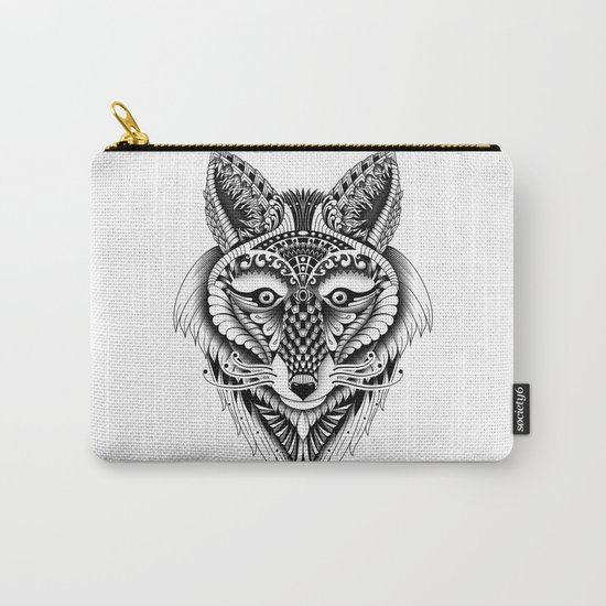 Ornate Foxy Wolf Carry-All Pouch