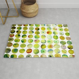 Coloured Yellow Bubble Pattern Rug