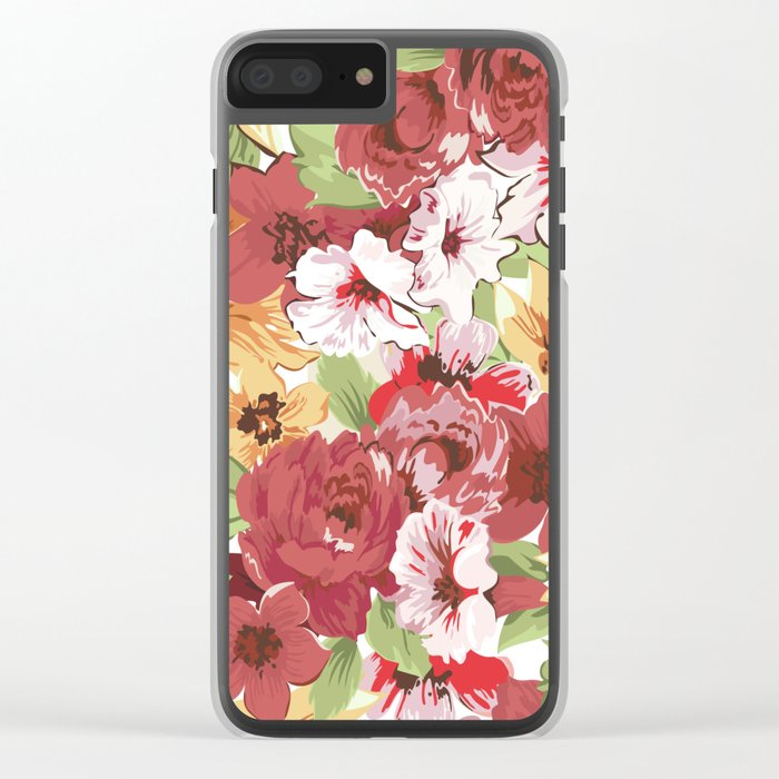 FLORAL PATTERN 7 Clear iPhone Case