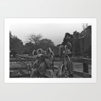 Sunflowers Black & White Film Photography  Art Print