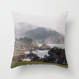 A Heavenly Home - Big Sur, California, USA Throw Pillow