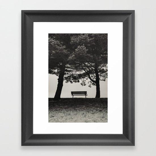 Winter's Shelter Framed Art Print