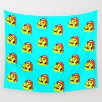 mario Wall Tapestries featuring Mario by CCCRRRAAAIIIGGG