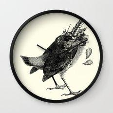 Decapitated bird Wall Clock