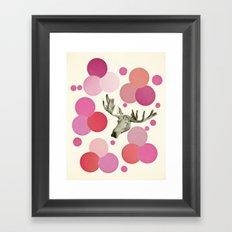 Strawberry Moose Framed Art Print