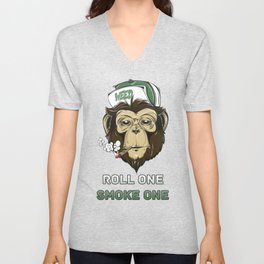 Weed Lovers - Roll One Smoke One Unisex V-Neck
