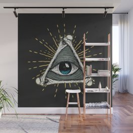 All seeing eye of God Wall Mural
