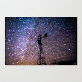 Windmill at Night Canvas Print