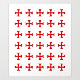 Cross pattée- crusades, templar,patty,templier Art Print