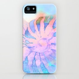 NAUTILUS CONCH SEA SHELL IMPRESSION iPhone Case