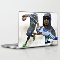 seahawks Laptop & iPad Skins featuring The Beast by Jae Gomez