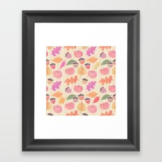 Fall Mix and Stripes Framed Art Print