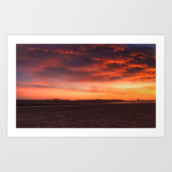 Scarlet Sunrise Art Print