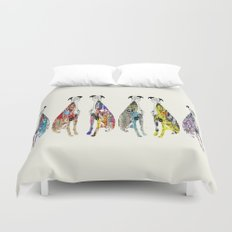greyhound racers Duvet Cover
