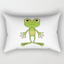 Cartoon Standing Frog Rectangular Pillow