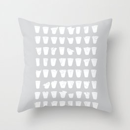Polystyrene cups Throw Pillow