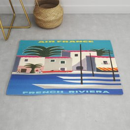 Vintage poster - French Riviera Rug