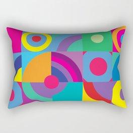 Geometric Figures in color Rectangular Pillow
