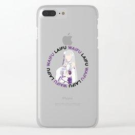 Waifu Laifu Elf Inspired Shirt Clear iPhone Case