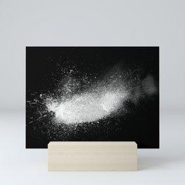 white dust explosion Mini Art Print
