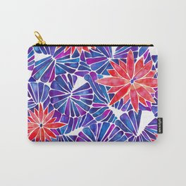 Water Lilies – Indigo & Red Palette Carry-All Pouch