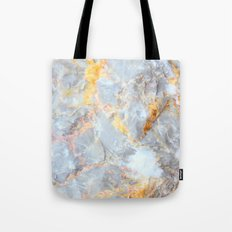 Grey & Gold Marble Tote Bag