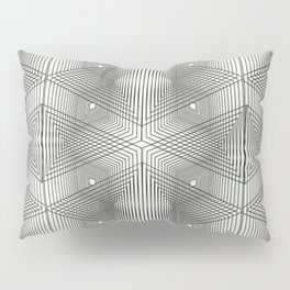 Optical Vibrations in Black and White Pillow Sham