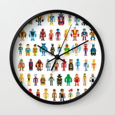 Pixel Heroes Wall Clock