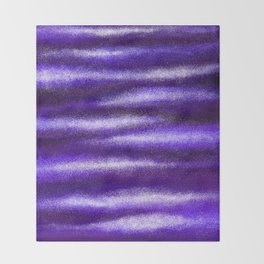 Ultra Violet Light Rays Throw Blanket
