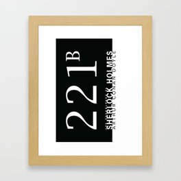 the classics .. 221B Framed Art Print
