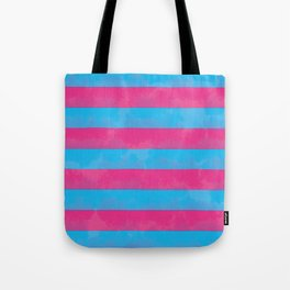 Pink and blue stripes Tote Bag