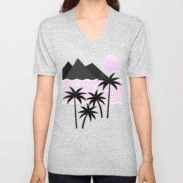 Hello Islands - Pink Skies Unisex V-Neck
