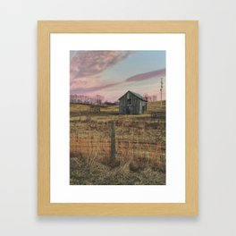 Winter Sunset in Sperryville, VA Framed Art Print