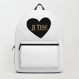 je t'aime x heart Backpack